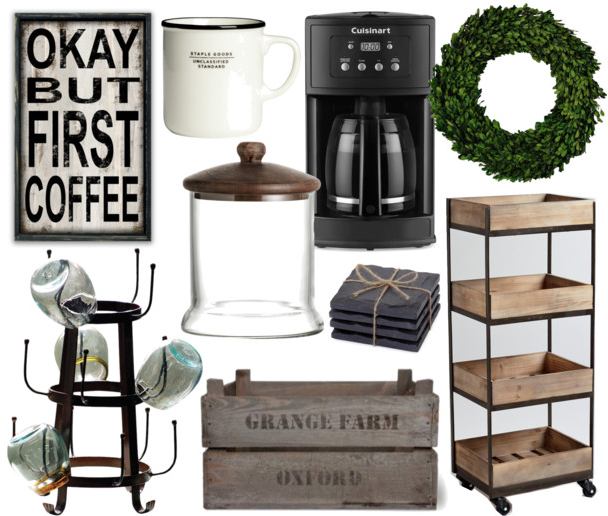 Build your own farmhouse coffee bar for How to build a coffee bar